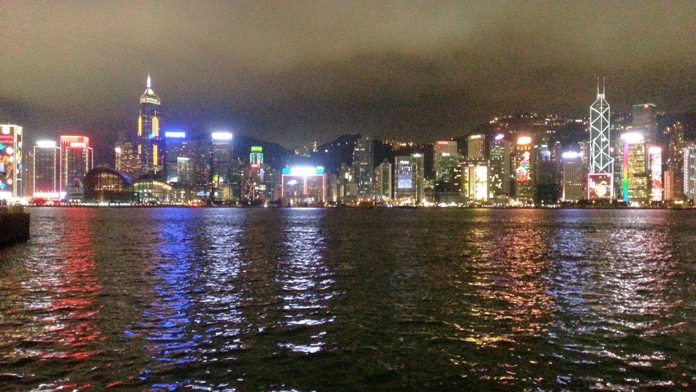 夜景维多利亚港图片