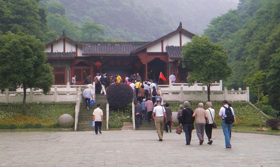 白龙潭风景区进口门房.图片