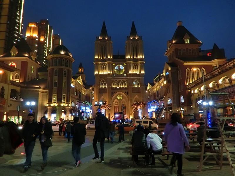 法国晚上的风景图片