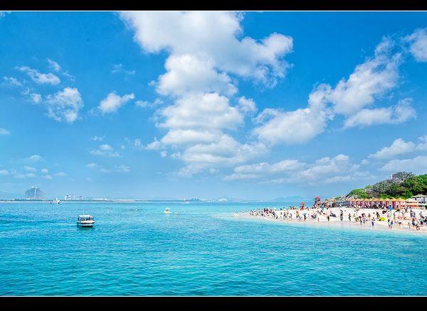 蜈支洲岛,碧海蓝天图片