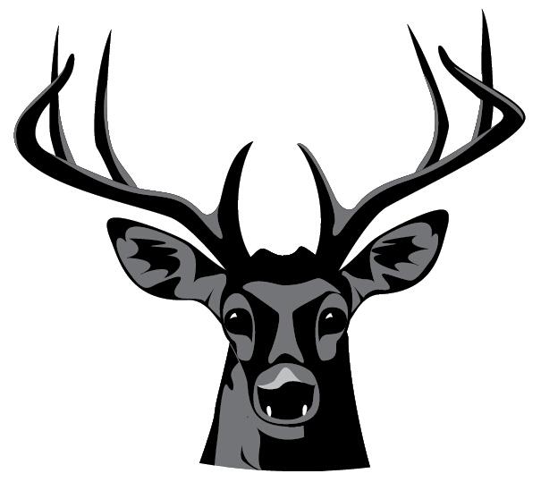 求一张线条明显的鹿头图案做纹身素材