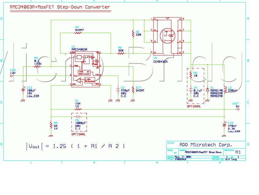 求3.7v升5v的mc34063a方案的电路图,电流要1a以上的,谢谢!