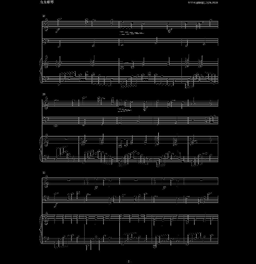 求天空之城小提琴钢琴合奏的谱子