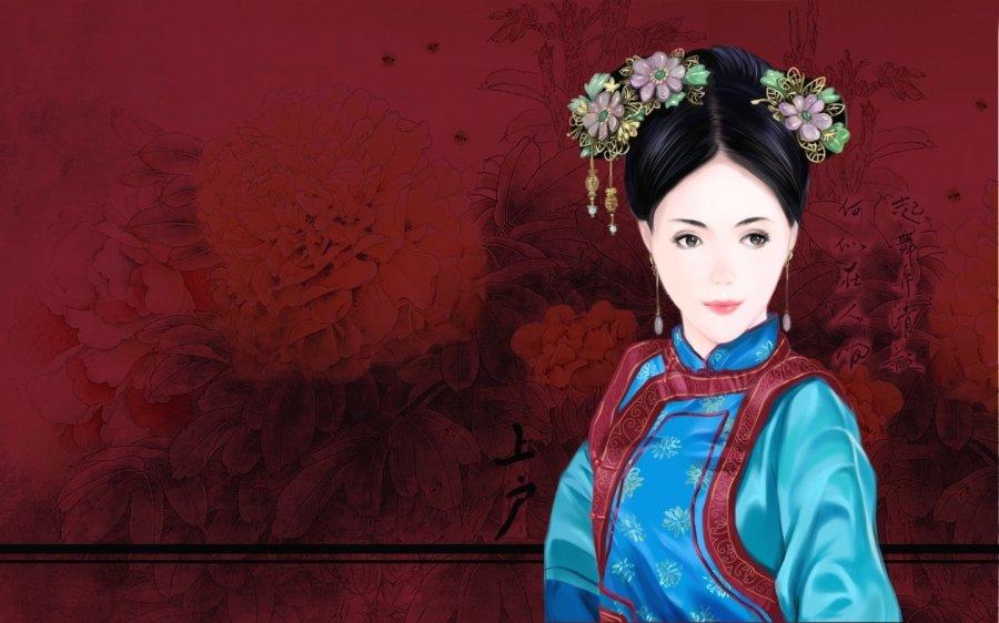 古装清朝手绘图片