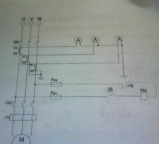 点动控制电路连接方法.的实物接法