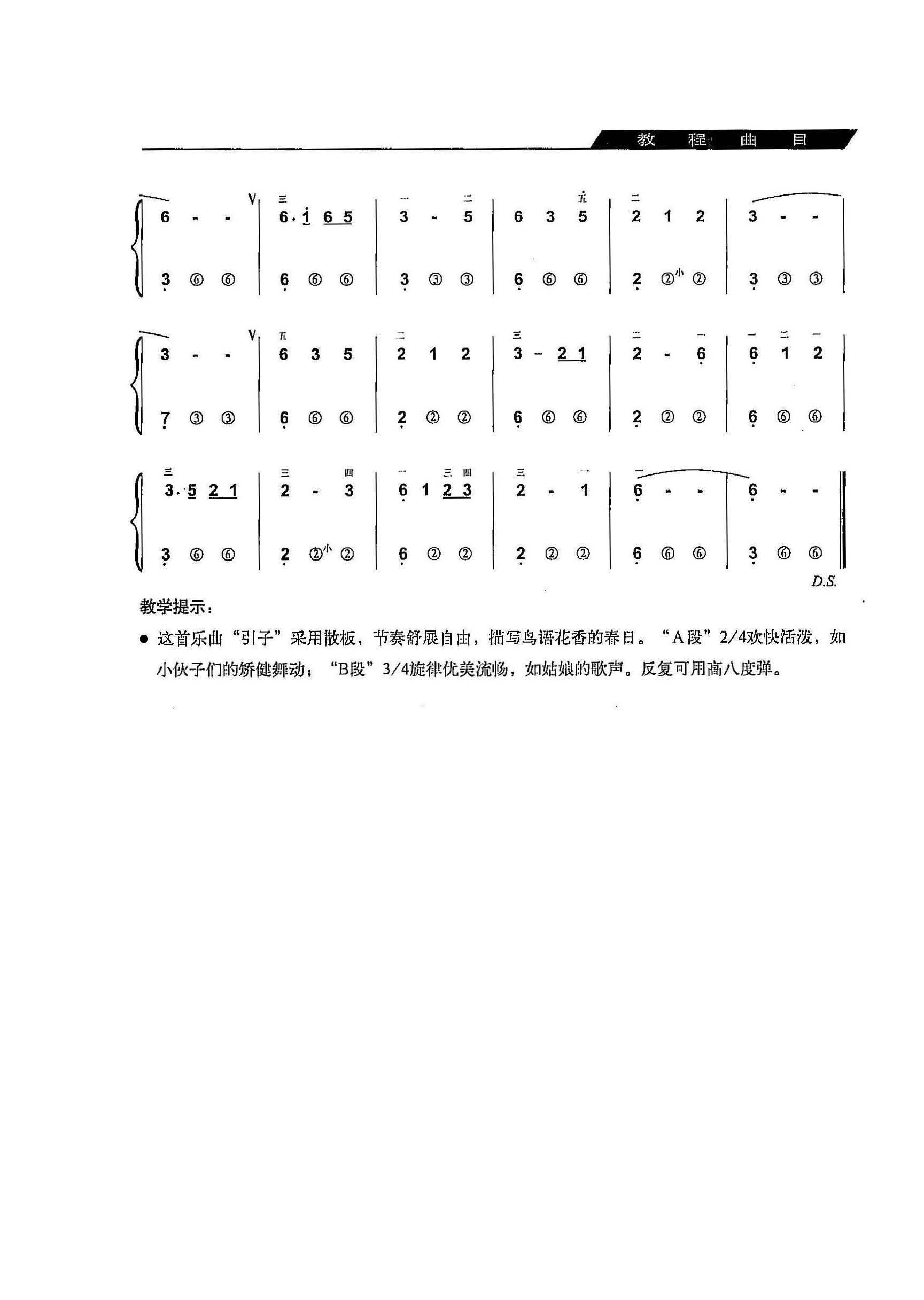 手风琴曲 花儿与少年 简谱 教程 详细的