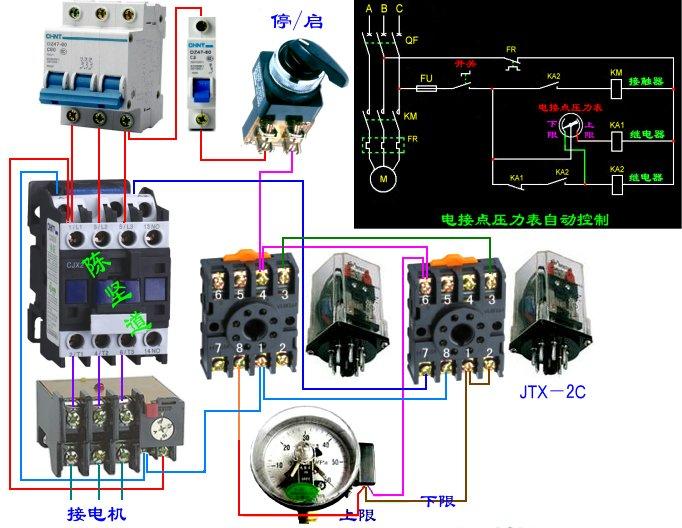 家用抽水机自动接线图