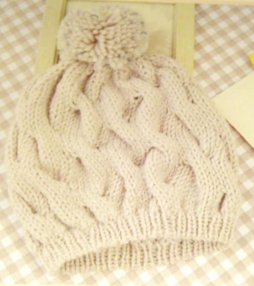 编织帽子花样图怎么看