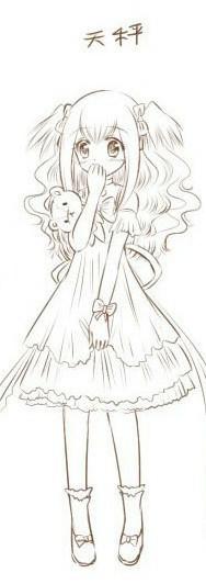 谁有手绘十二星座动漫少女图,要清楚的,像这个样子.