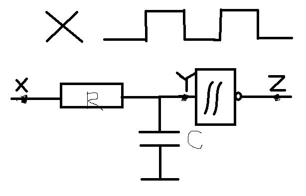 数字电路的一个画波形图的问题