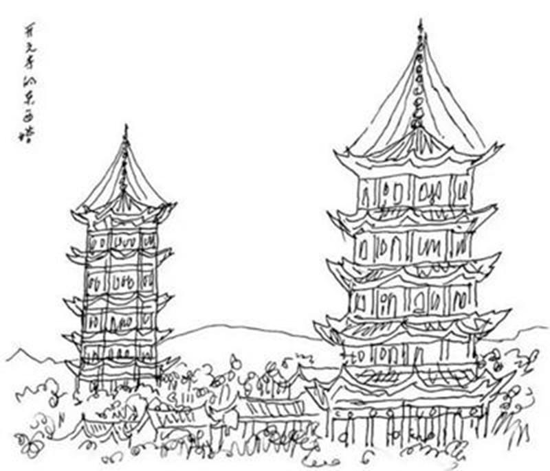 求泉州开元寺手绘图,简笔画也可以,求各位帮帮忙