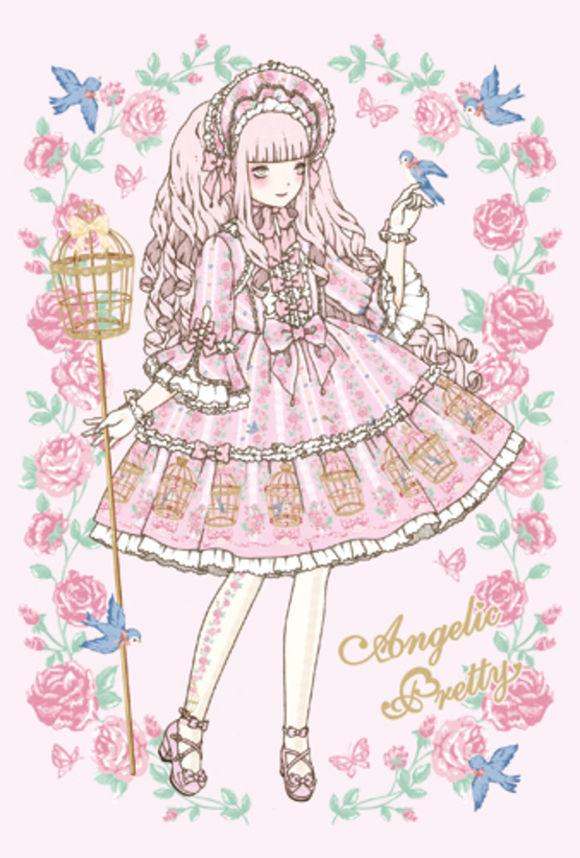 洛丽塔洋装手绘素材