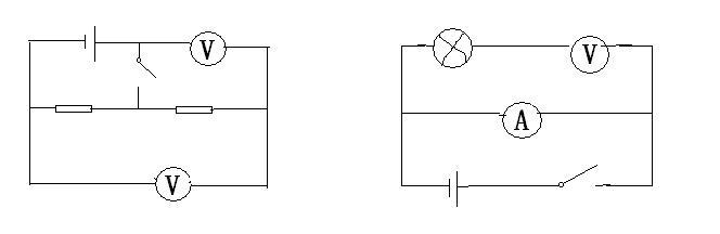 根据电路图写出各电表示数情况.