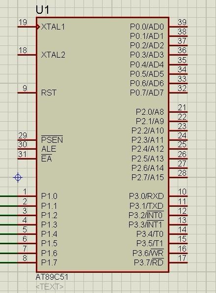80c51单片机引脚图