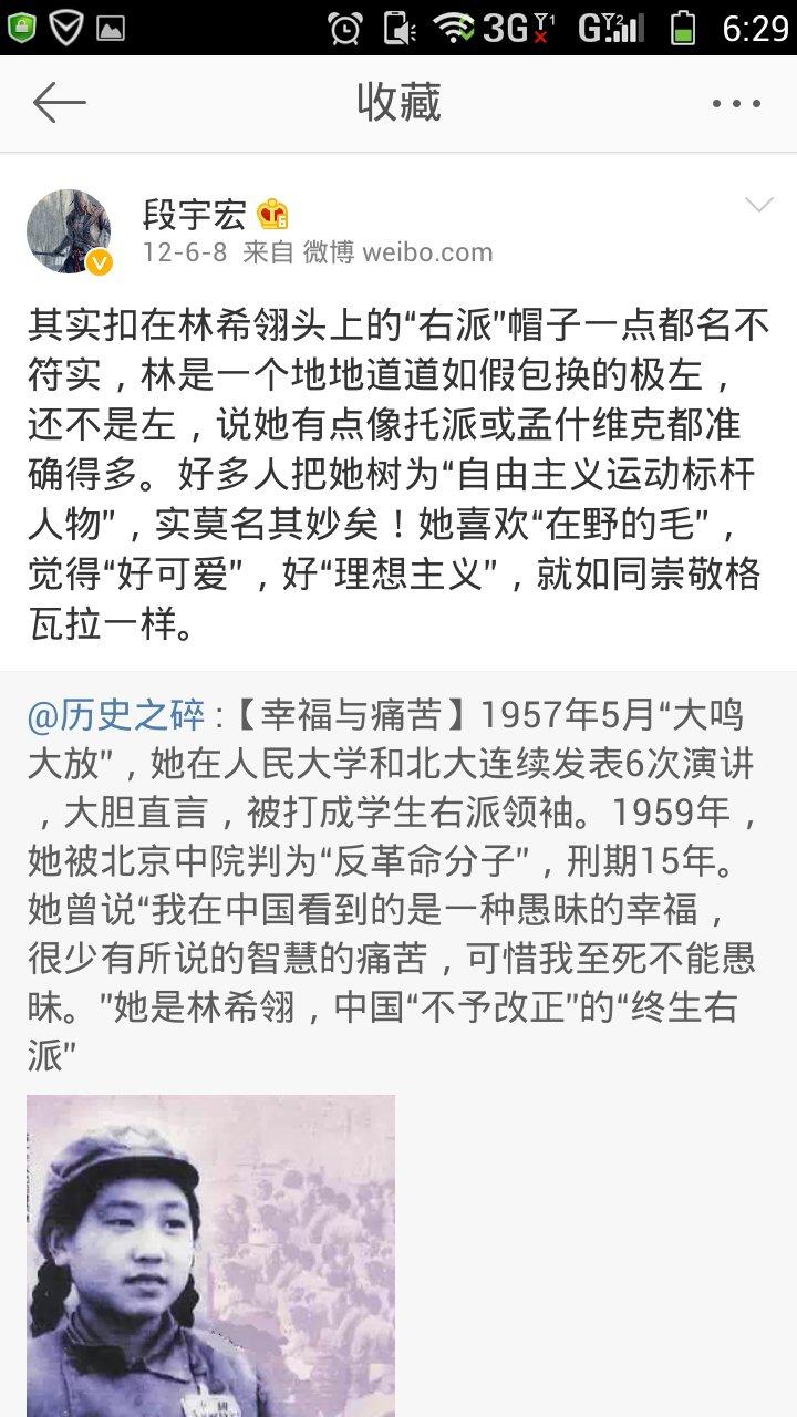 段宇宏 说,林希翎其实是极左分子,不是自由主义者