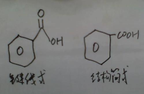 苯甲酸的健线式与结构简式一样吗?怎么样写啊?谢谢