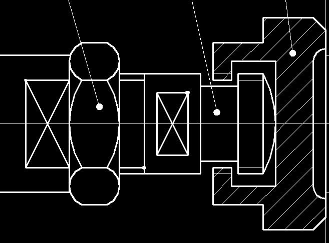 这是气缸活塞杆与夹紧元件的连接,那个方框里有个叉表示什么,并且请图片