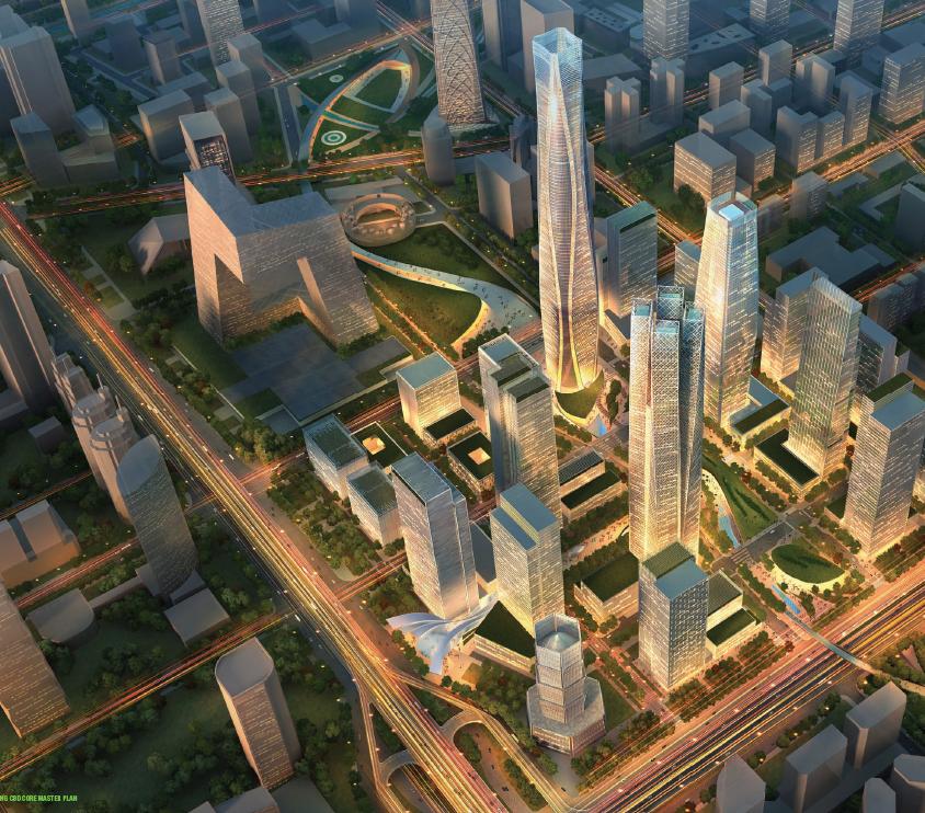 位于cctv大楼南面,整个区域规划由著名的som公司规划设计.