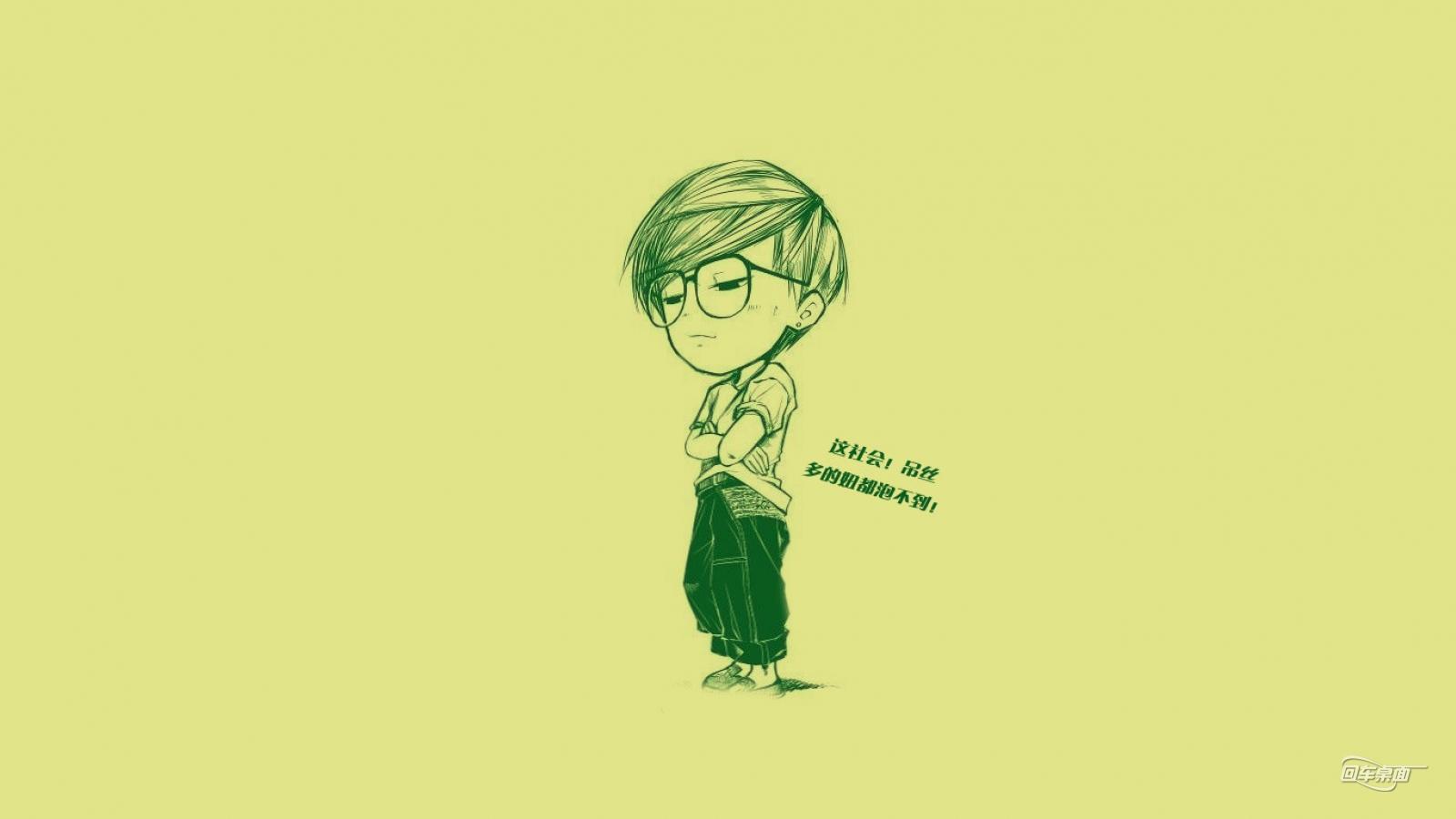 手绘可爱卡通人物壁纸-卡通动漫-壁纸下载-美桌网http