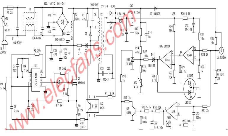 求助捷安特电动车充电器电路图(型号:tl-c78t-36)