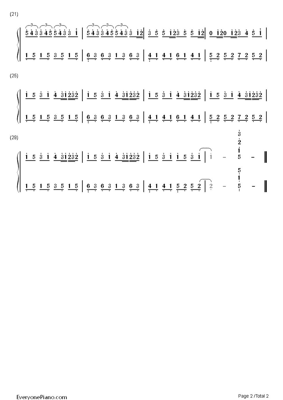 钢琴曲龙卷风的纯数字简谱.图片