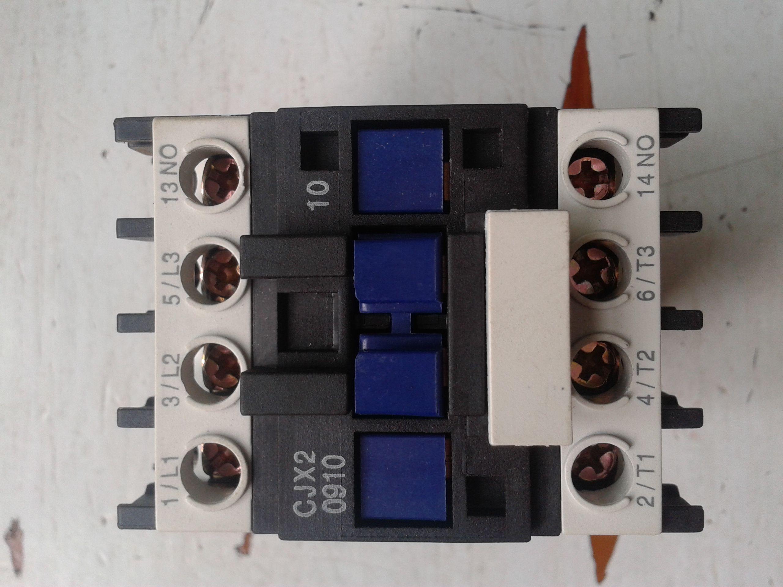 求交流接触器接线方法