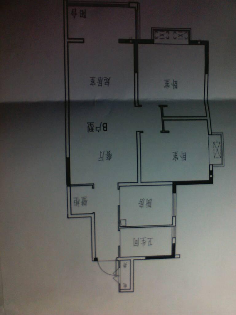 这是房屋平面图,88平米,求大神设计装修.