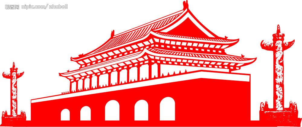 北京天安门怎么画啊,求图