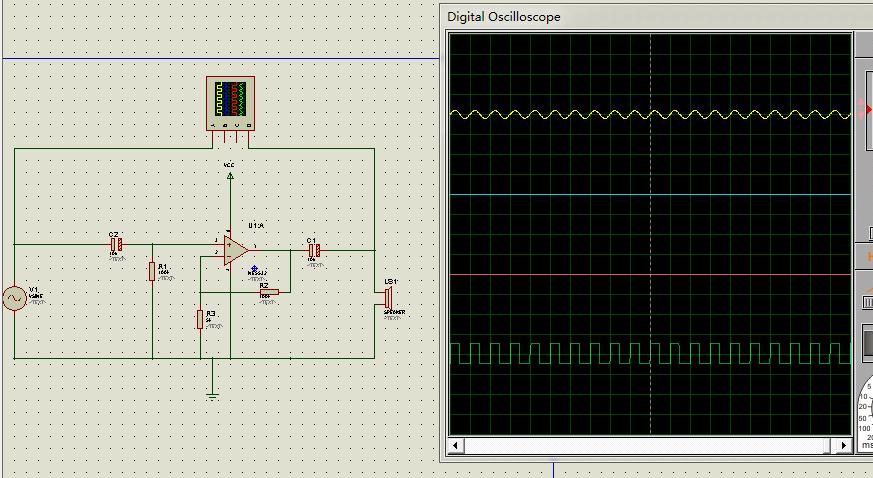 用集成运算放大器做了一个电路,模拟了好久输出的波形不是变形就是