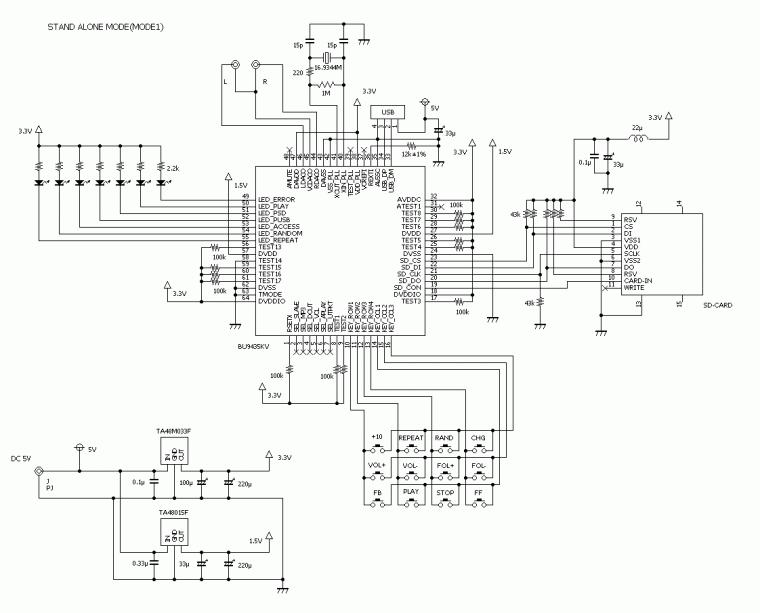 bu72435kv mp3解码板电路图