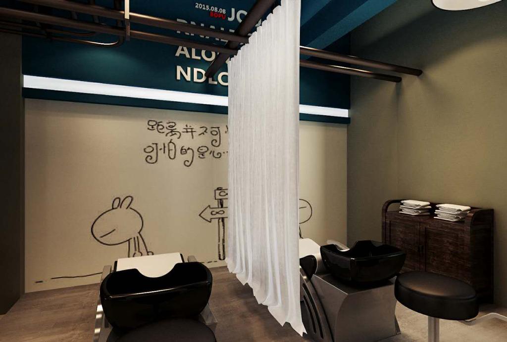 180平米 美发店装修 这样风格装修需要多少钱,不带那些装饰品图片