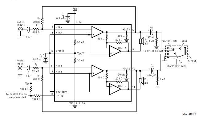 求lm4863d 功放电路图一张