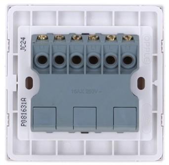 欧普开关86型三开单控开关怎么接线可以独立控制2个灯图片