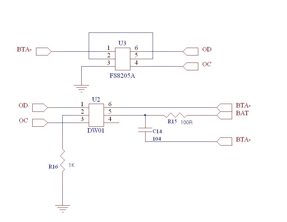 电源芯片dw01配合8205a电路图入下,为什么偶尔插电池的时候dw01的1脚
