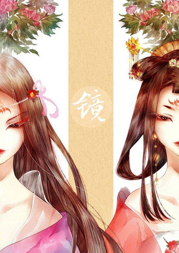 求古风半脸美图,手绘,线稿,彩图都可以,类似这种
