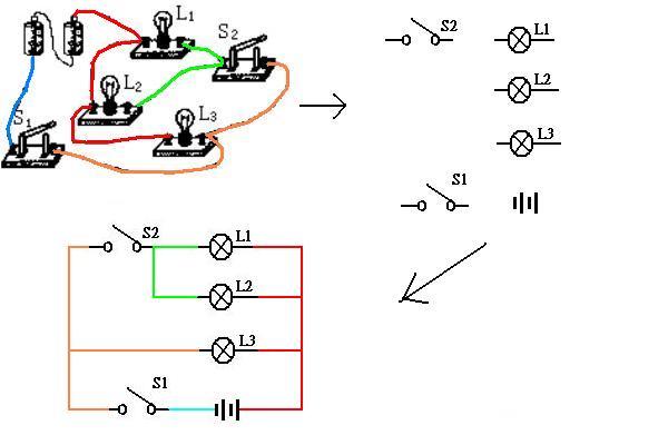 根据实物图画电路图 详细分析