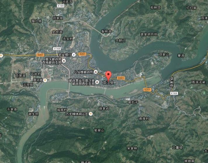 四川省宣汉谷歌卫星地图