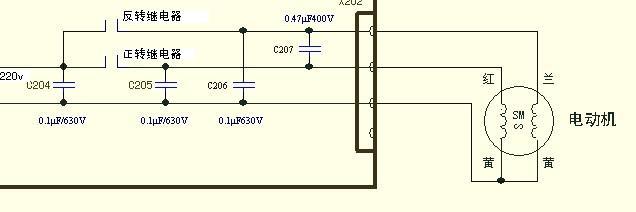 继电器控制异步电机正反转电路图,请问为什么要那么多