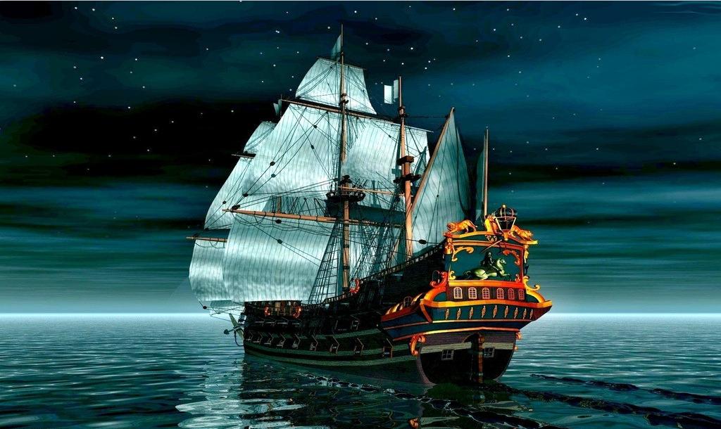 古代欧洲海盗船的速度?图片