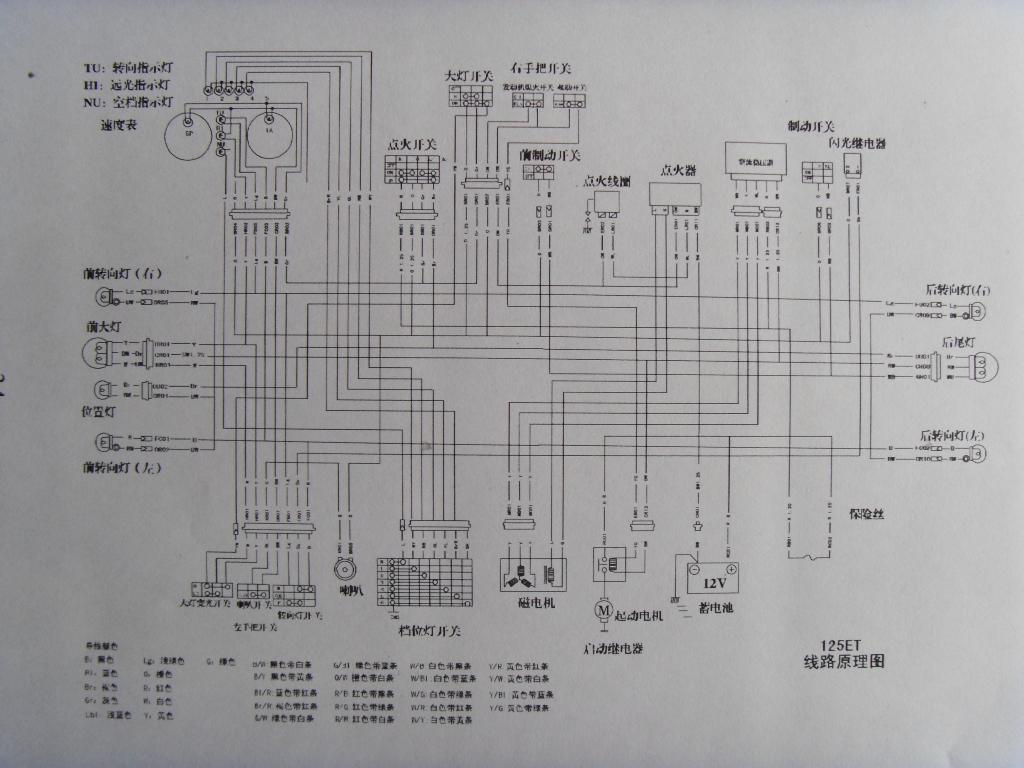 求铃木王gs125 1999款高清电路图