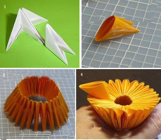 万圣节手工三角插图解与三角插折纸教程大全