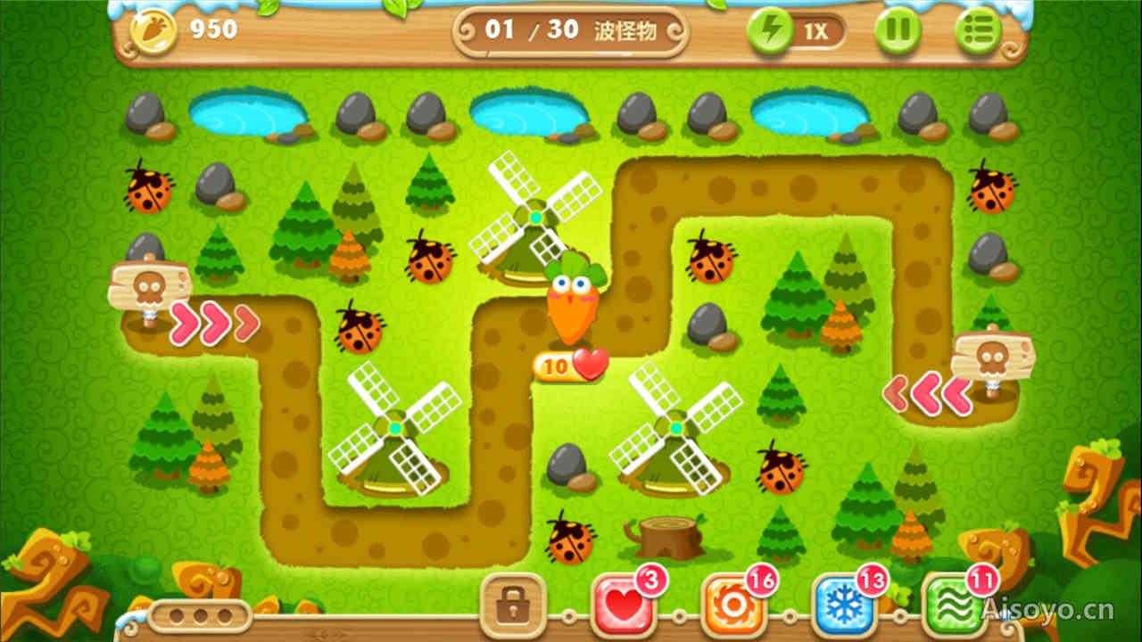 《保卫攻略2》金萝卜全道具萝卜契约22暗黑关卡游戏攻略图片