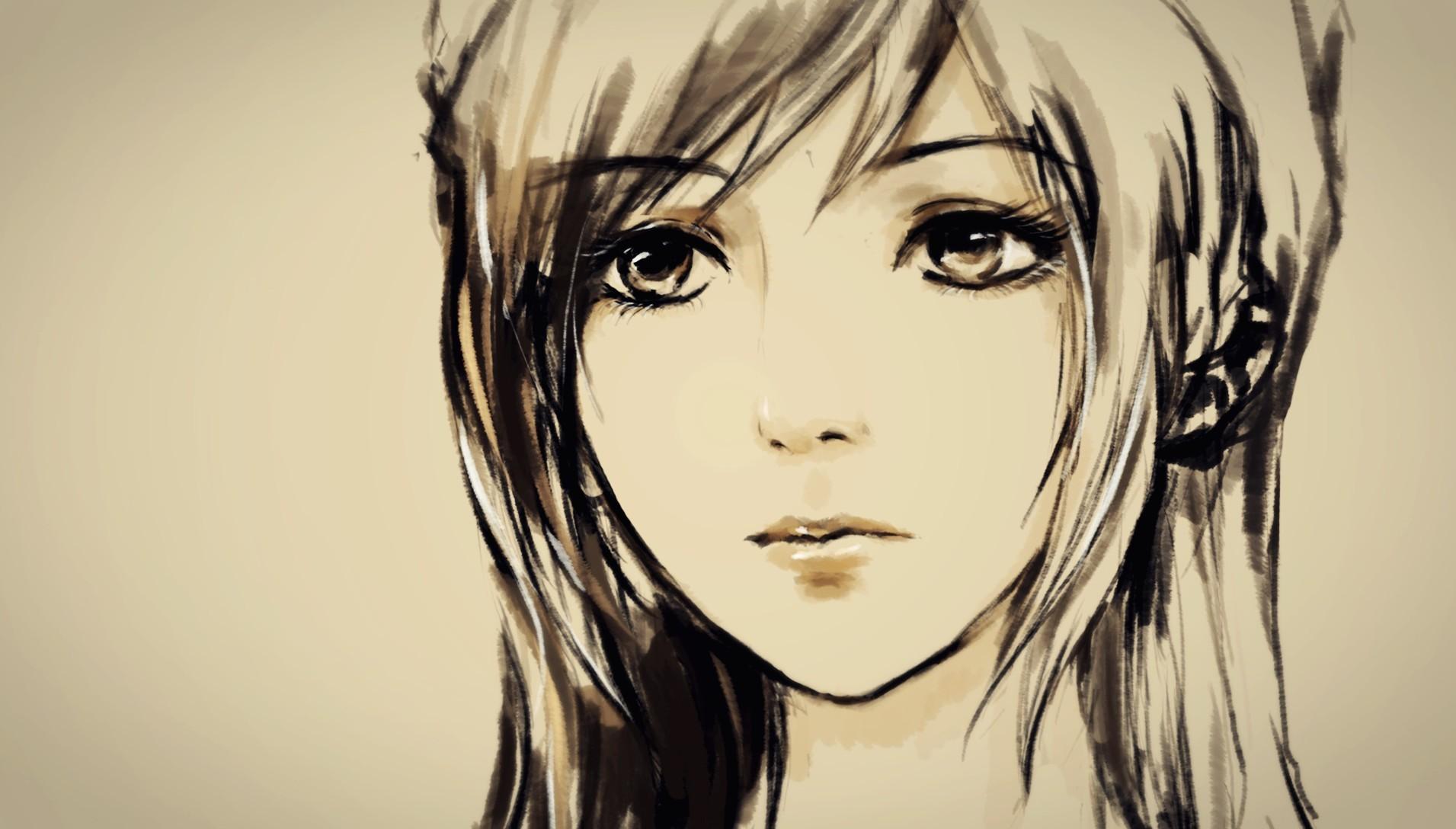 动漫人物图片手绘铅笔
