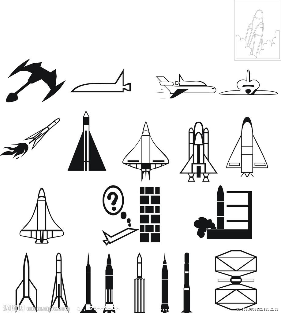 手绘火箭图片大全