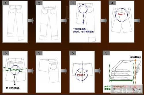 卷裤子折叠方法图解