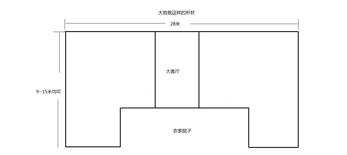 农村一层平房设计图
