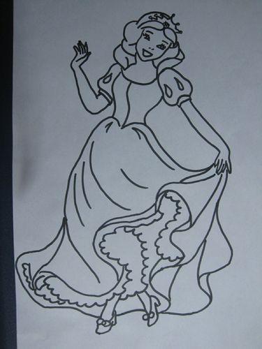 公主怎么画?