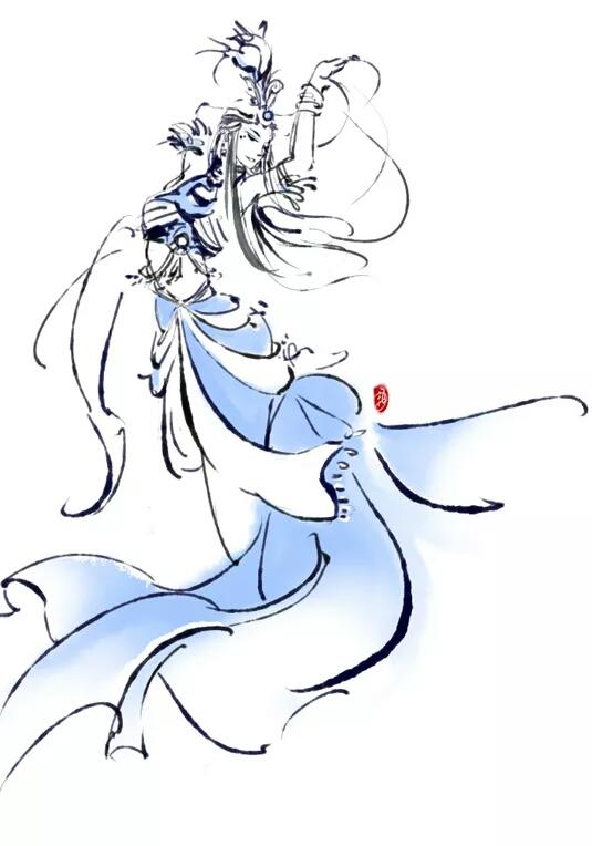 答:古风人物线条图,我最喜欢的是李堃跟王一的,超级美型,线条也很美.
