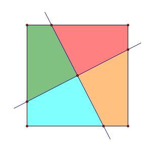 怎样将正方形平分成四份图片