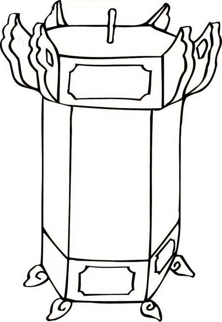 新年灯笼手绘图片